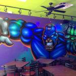 Miami FL Superhero Cartoon Mural Interior