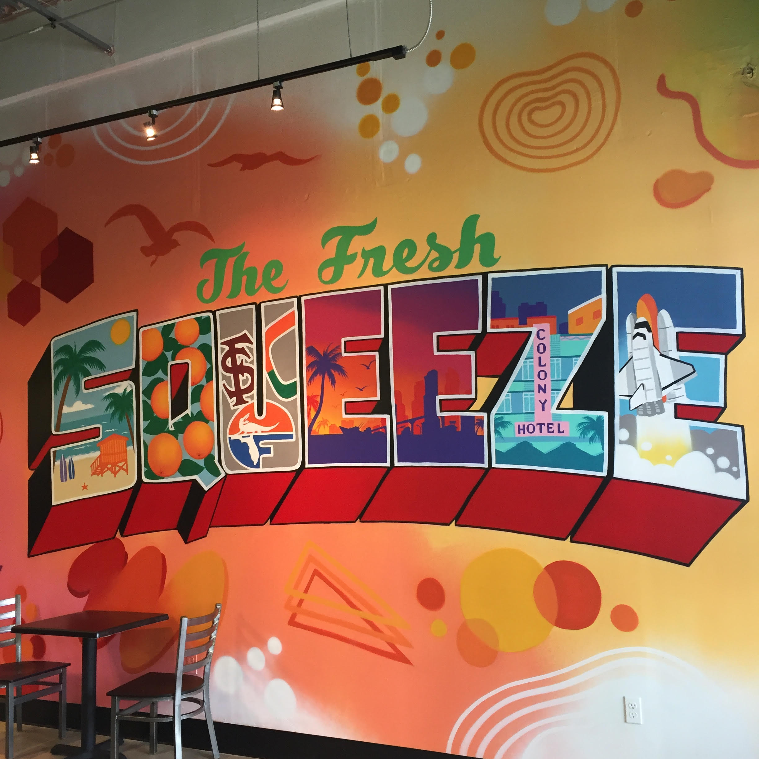 The Fresh Squeeze Mural Miami FL