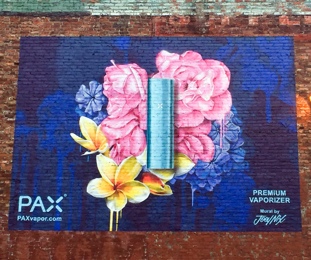 Pax Hand Painted Ad in Seattle