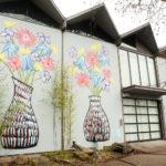 Flower Vase Street Art Mural in Seattle, WA