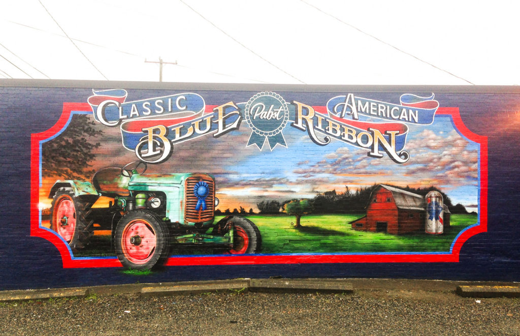 PBR Classic Mural in Seattle, WA