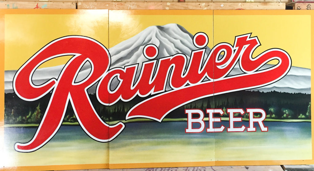 Rainier Beer Sign in Seattle, WA