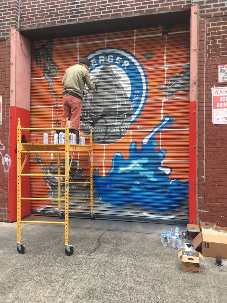 Brooklyn Mural Painting Gerber