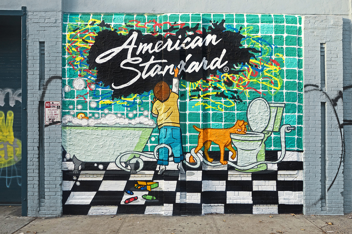 American Standard Cartoon Graffiti for Hire