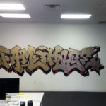 Traditional Graffiti Artist in Office