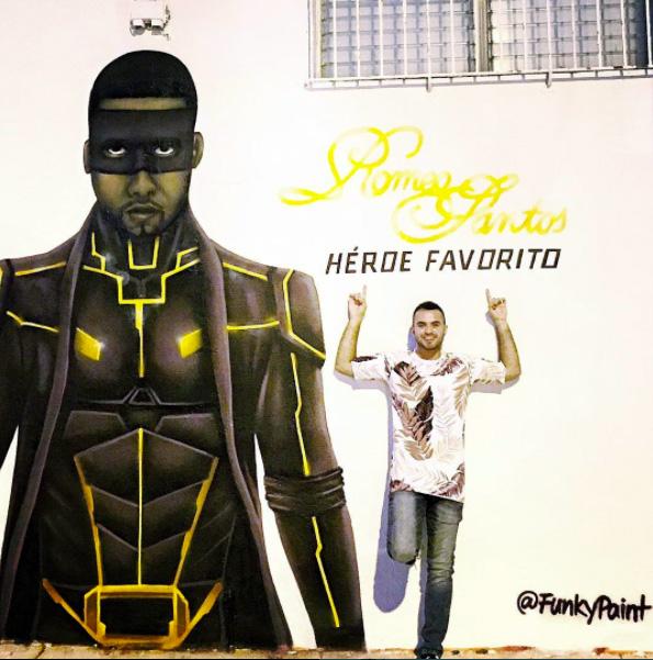 Hispanic Mural Ad - Romeo Santos Fan