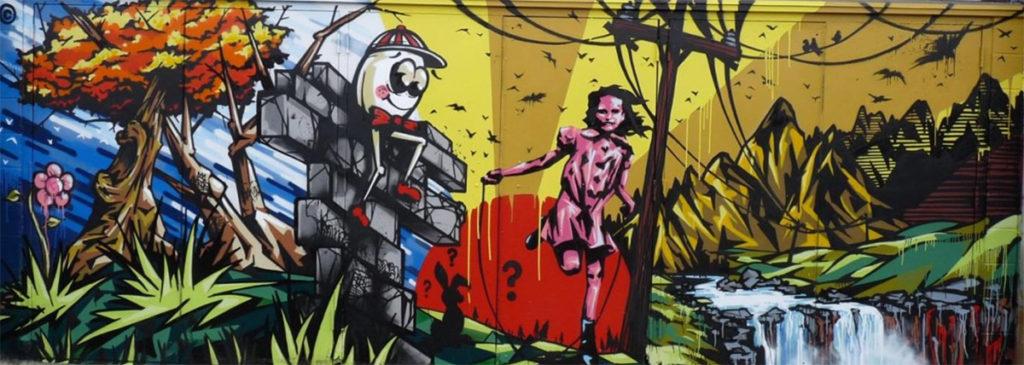 Ntel Electric City Mural