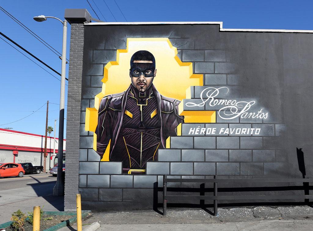Hispanic Mural Ad - Romeo Santos mural in LA