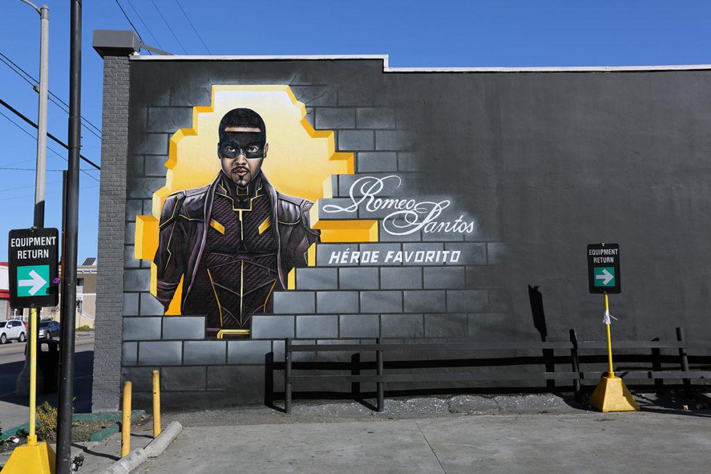 Hispanic Mural Ad - Graffiti Superhero Mural