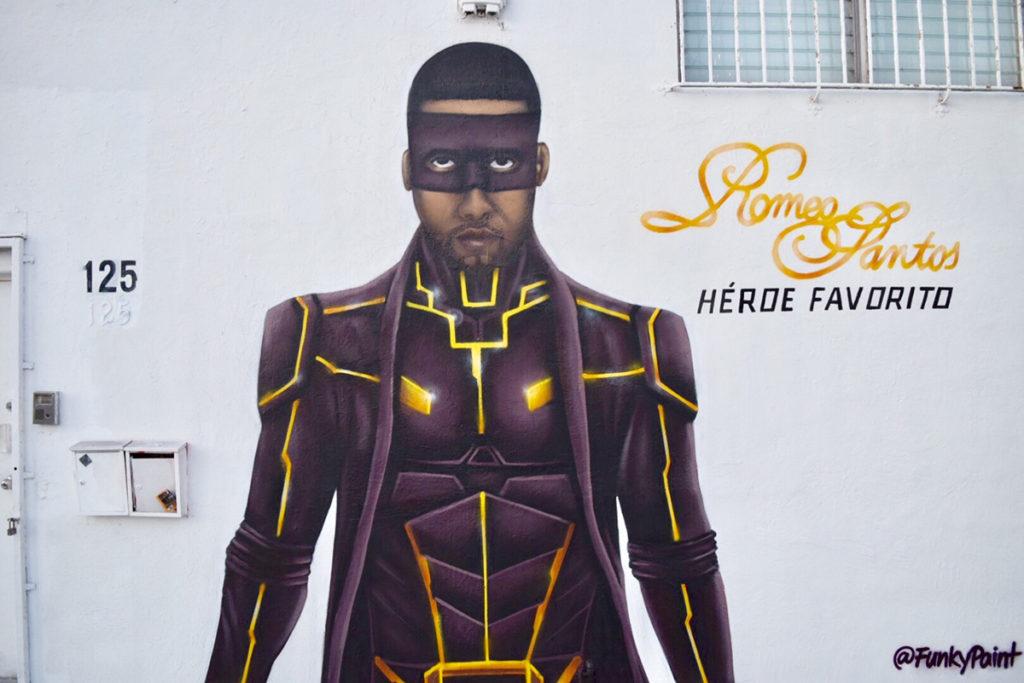 Hispanic Mural Ad - Romeo Santos mural in Wynwood, FL