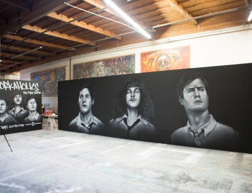 Comedy Central – Street Art for Workaholics Campaign in LA & NY