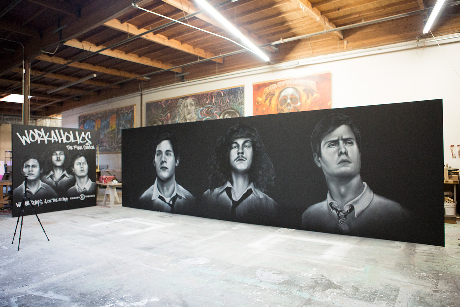 Comedy Central Mural Painted for Workaholics