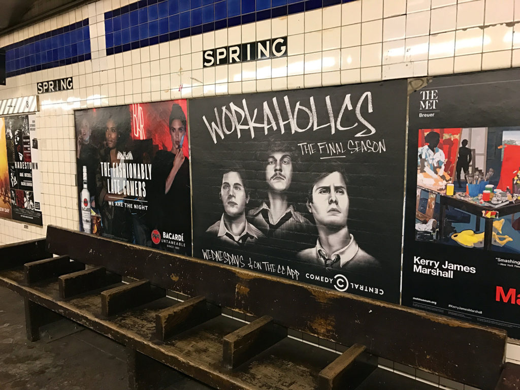 Workaholics Mural Subway Ad