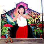 Elle Flower Mural Portrait