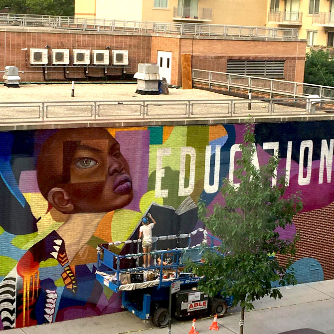 Elle Education Mural