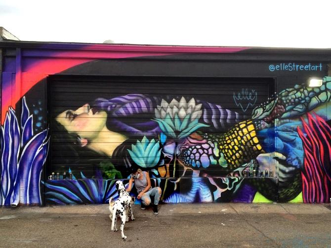 Elle Portrait Graffiti
