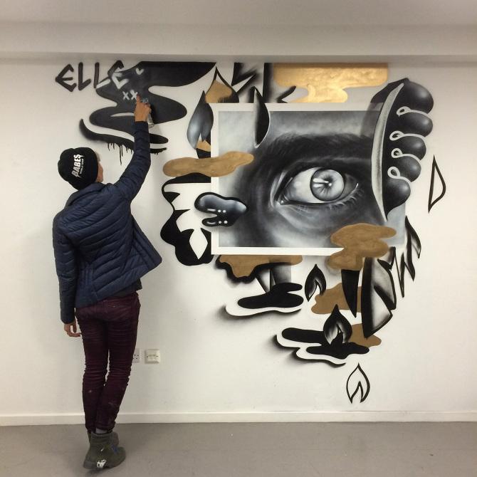 Elle Interior Mural