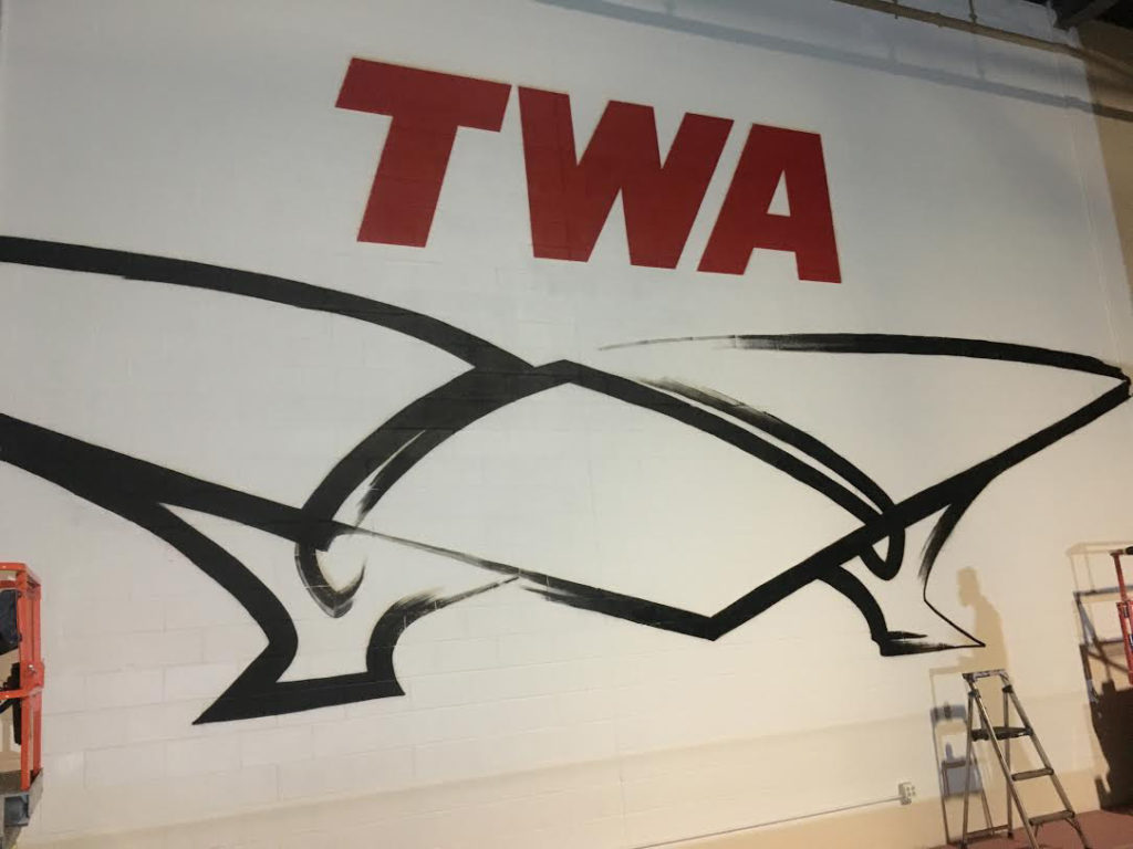 Large Graffiti Logo for TWA