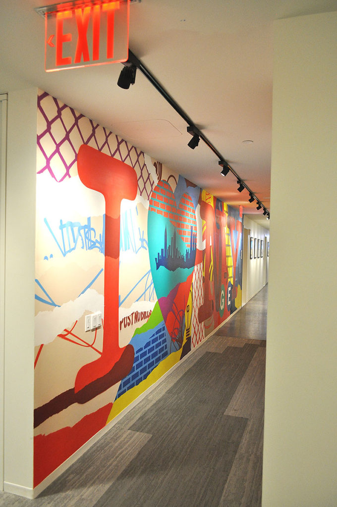 GE Office Mural in NYC