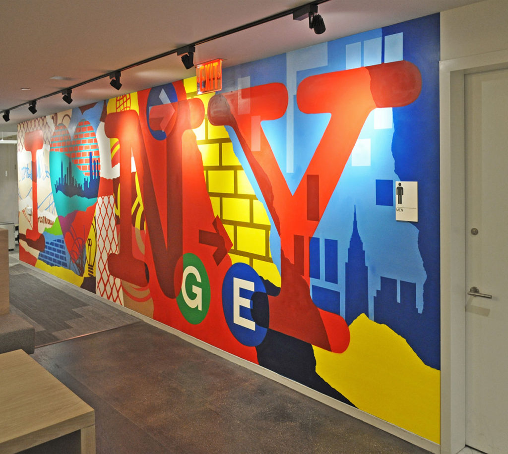NY Skyline Mural for GE