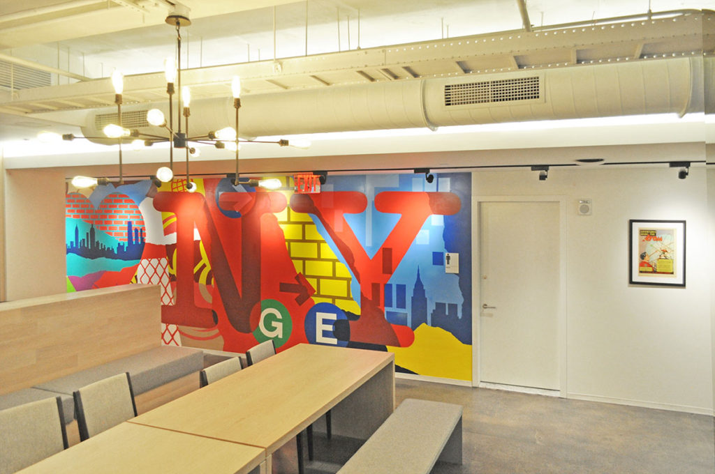 NY Interior Office Mural - Office Space Graffiti GE