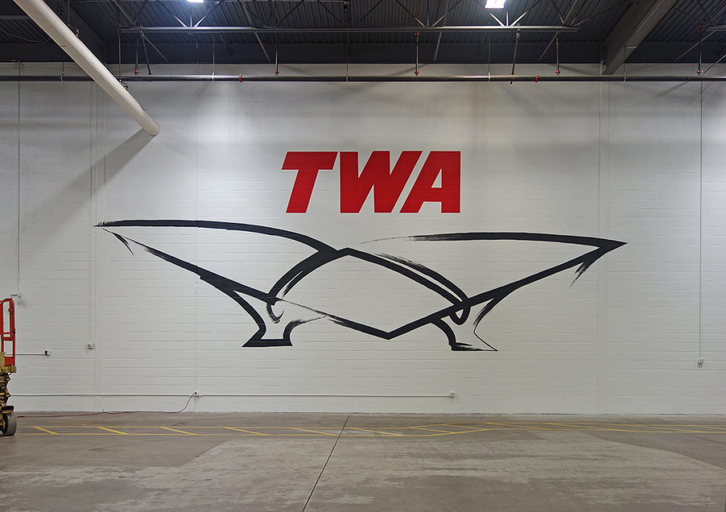 Large Scale Mural for TWA