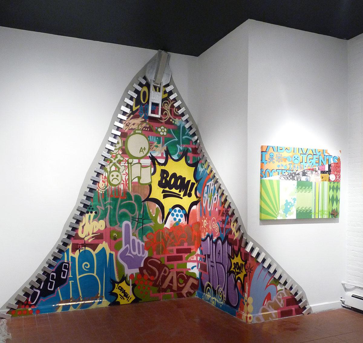 Graffiti wall usa - Interactive Zipper Graffiti Installation