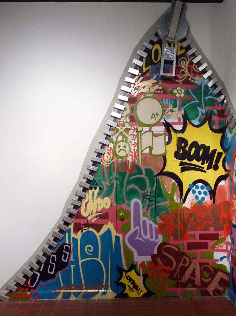 Interactive Zipper Graffiti Installation