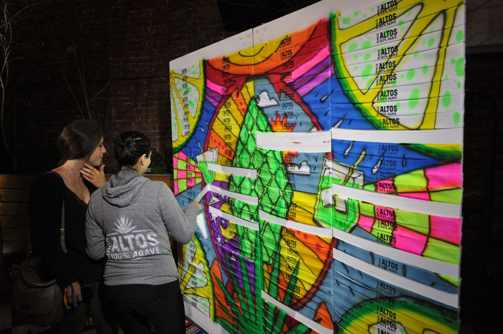 New York Live Airbrush Graffiti Mural