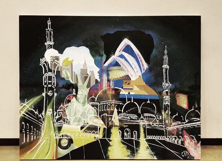 Sydney Dubai Aus Canvas