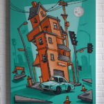 LA Airbnb Green Canvas