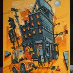 LA Graffiti Canvas Yellow