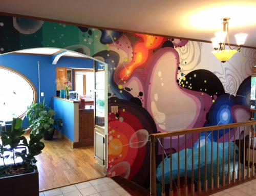 Illinois Residential Mural – Graffiti Art Interior Design
