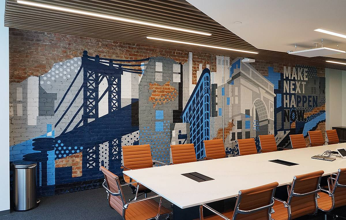 Office Mural For Silicon Valley Bank In Nyc Graffiti Usa