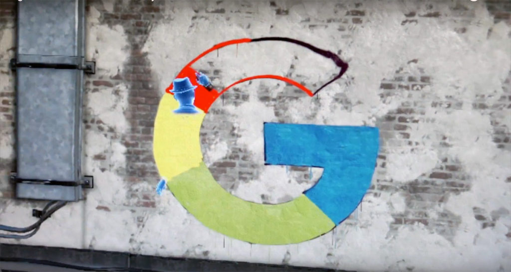 Google Live Digital Graffiti