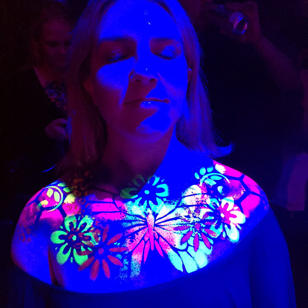 Neon Body Art in Blacklight