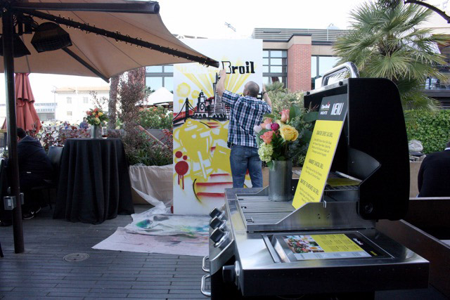 Painting Live BBQ Art in SF
