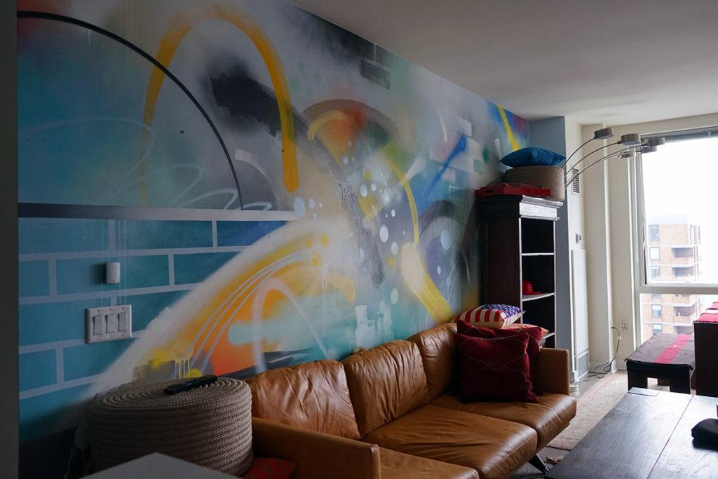 Apartment Mural - Living Room Graffiti