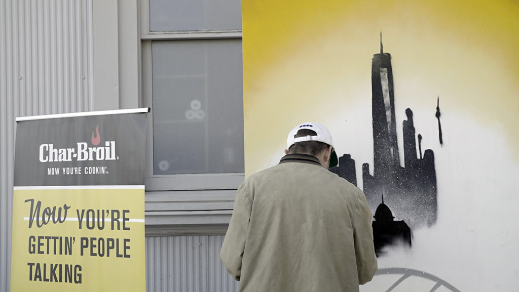 NYC Skyline Char Broil Activation