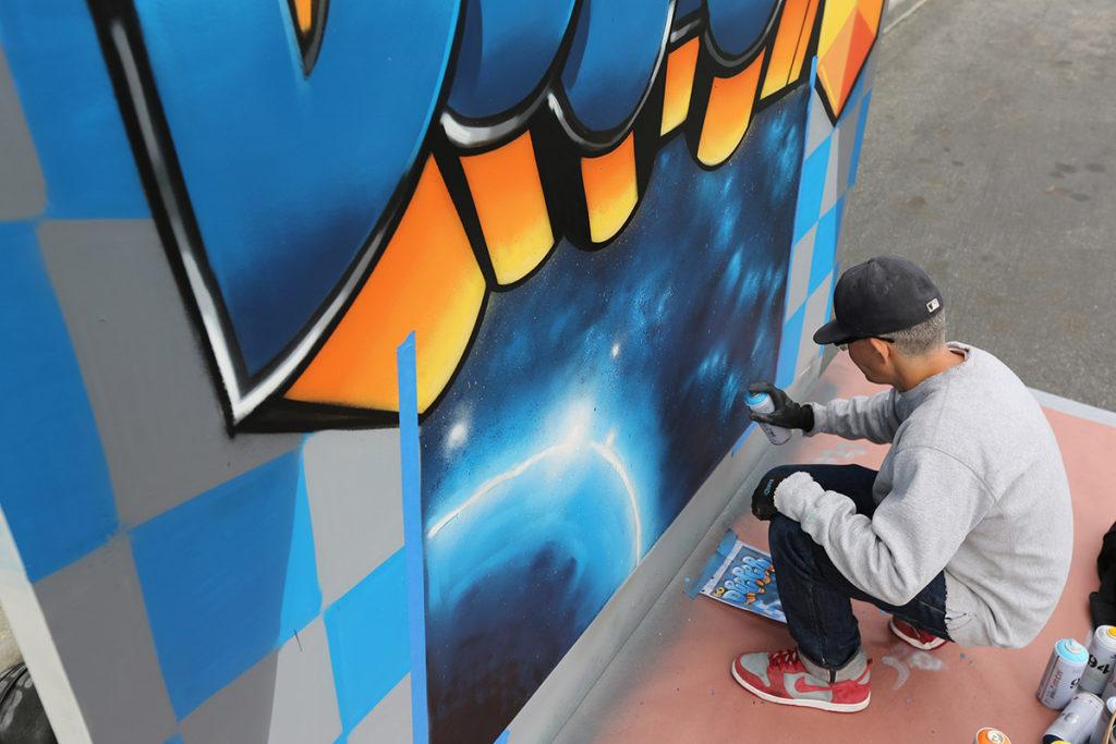 Live Mural for Tech Event - Graffiti Performance Art in LA