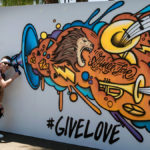 Interactive Mural at Festival
