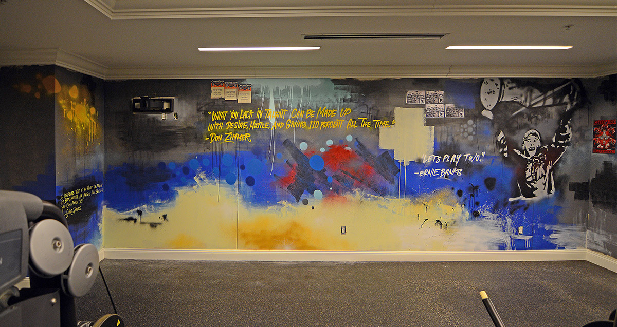 Chicago street artist at the blackstone hotel graffiti usa for Chicago mural artist