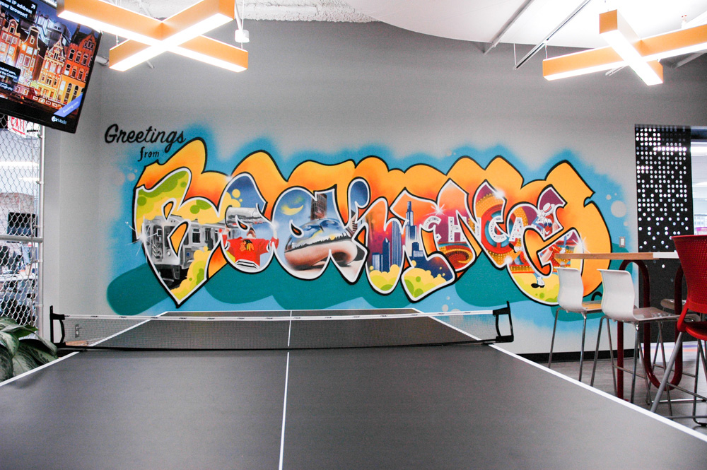 Chicago Office Graffiti Mural For Booking Com