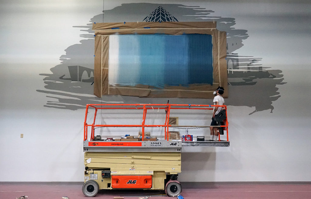 2050 M Street Mural in Progress