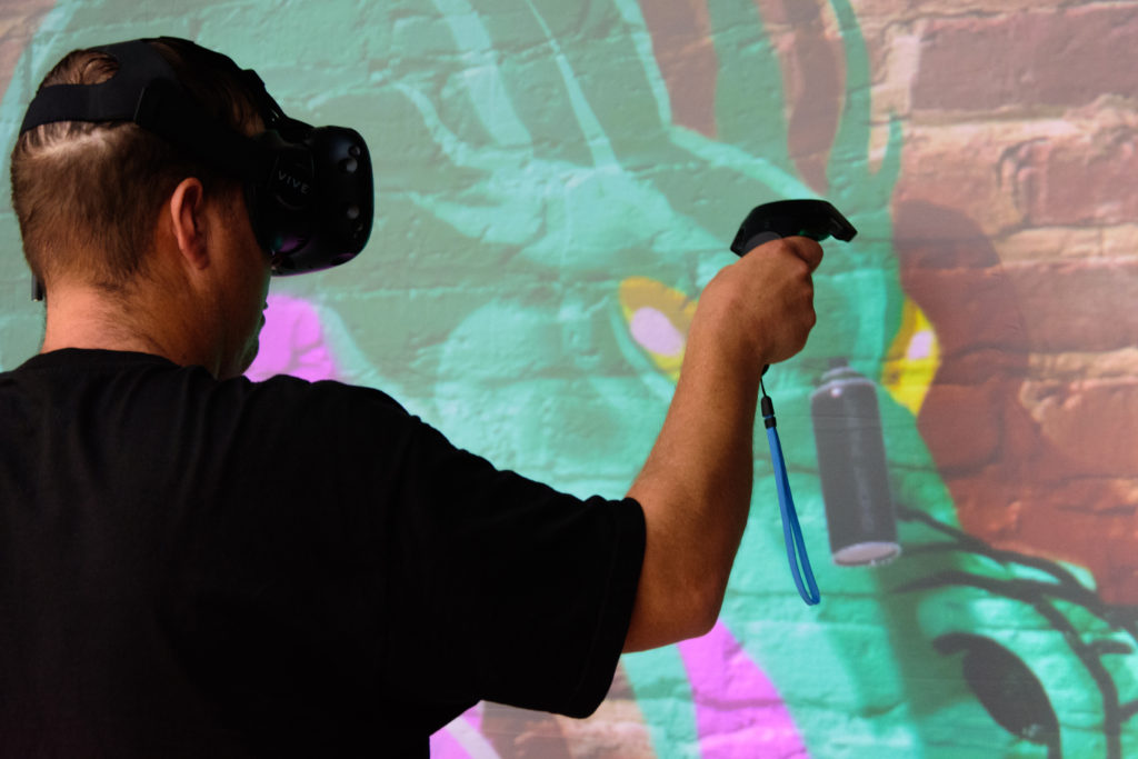 Live Graffiti Art in VR