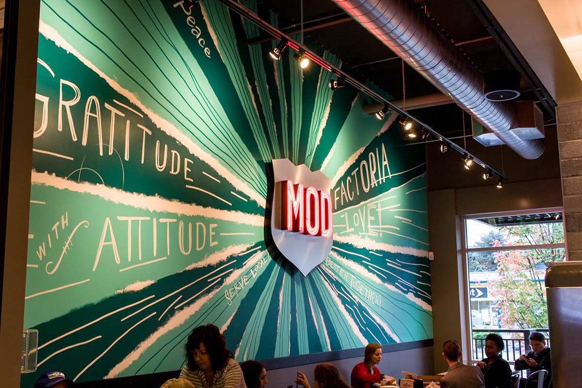 Seattle mod pizza mural for restaurant graffiti usa for Mural restaurant