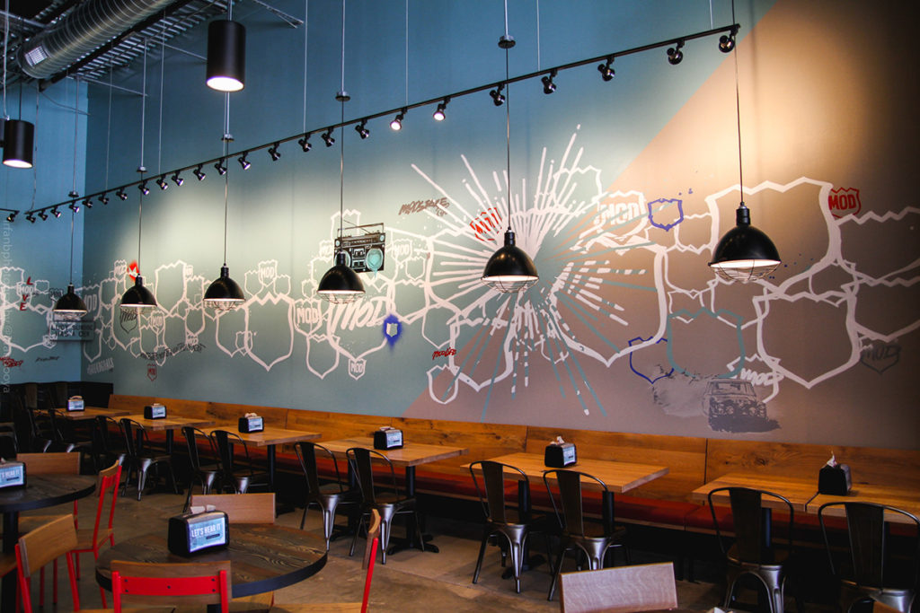 Mural for Mod Pizza in Houston