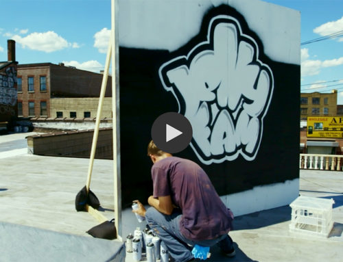 Spray Painted Graffiti Logo for Basketball Documentary on Jelly Fam