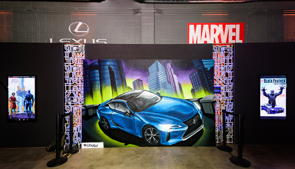 Las Vegas Graffiti for Lexus Marvel Collaboration
