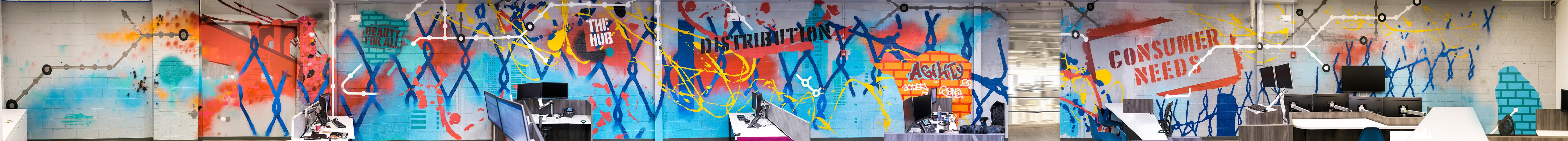 New Jersey office graffiti panoramic